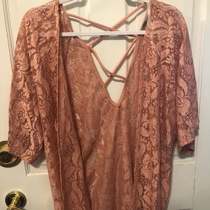 Dusty rose coverup